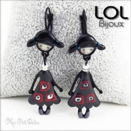 Les Pépettes Indidi LOL Bijoux Doll Earrings , Enamel Lever Back Doll Earrings lolilota boucles d'oreilles