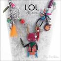 Pink Navajo Bunny LOL Bijoux Necklace, Enamel Necklace lolilota