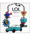 Cat Pop Art Car LOL Bijoux Necklace, Enamel Cat Necklace lolilota chat collier