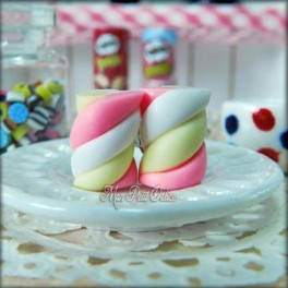 Pink Marshmallows Earrings