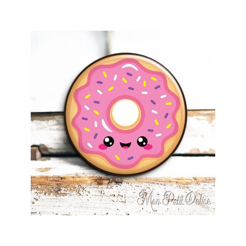 Espejo de bolsillo chapa de bolsillo donut kawaii rosa - Espejos de bolsillo ...