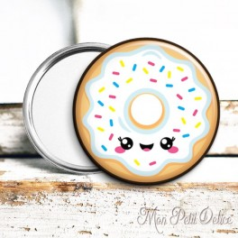 espejo-bolsillo-donut-blanco-kawaii-vintage-pocket-mirror-button-badge-white-donut
