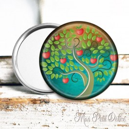 espejo-bolsillo-chapa-arbol-floral-vintage-pocket-mirror-button-badge-tree-life-whimsical