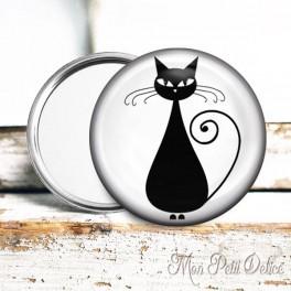 Espejo de Bolsillo Gato Negro