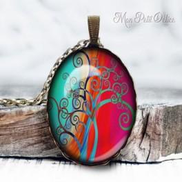 colgante-arbol-turquesa-fantasia-vida--vintage-cabuchon-cristal-necklace-pendant-tree-life-whimsical-bronze-cabochon-glass