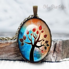 collar-colgante-arbol-fantasia-de-la-vida-vintage-cabuchon-cristal-necklace-pendant-tree-life-whimsical-bronze-cabochon-glass