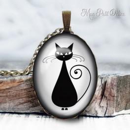 collar-colgante-gato-negro-2-vintage-cabuchon-cristal-necklace-pendant-black-cat-bronze-cabochon-cameo-glass