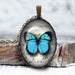 collar-colgante-mariposa-azul-vintage-cabuchon-cristal-necklace-pendant-buterrfly-blue-bronze-cabochon-glass