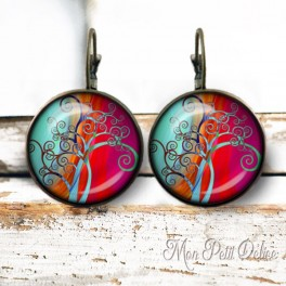 pendientes-vintage-arbol-fantasia-turquesa-cristal-bronce-cierre-catalan-earrings-fantasy-tree-whimsical-lever-back-cabochon