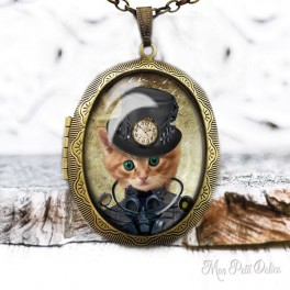 Camafeo-portafoto-vintage-gato-steampunk-cabuchon-cristal-photo-locket-cat-steampunk-cabochon-glass-tile-bronze