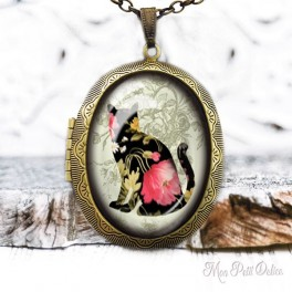 Camafeo-portafoto-vintage-gato-floral-cabuchon-cristal-photo-locket-cat-floral-cabochon-glass-tile-bronze