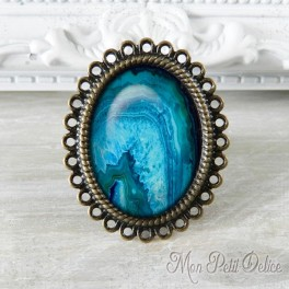 anillo-rococo-vintage-marmolado-azul-agata-bronce-cabuchon-cristal-ring-cabochon-bronze-glass-marbling-blue-agate