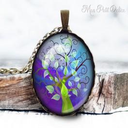 collar-colgante-arbol-de-la-vida-azul-vintage-cabuchon-cristal-necklace-pendant-tree-life-blue-whimsical-bronze-cabochon-glass