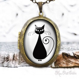 Camafeo-portafoto-relicario-vintage-gato-negro-cabuchon-cristal-photo-locket-black-cat-face-cabochon-glass-tile-bronze