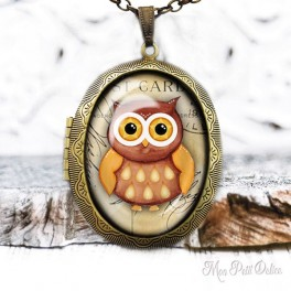 Camafeo-portafoto-relicario-vintage-buho-marron-cabuchon-cristal-photo-locket-owl-cabochon-glass-tile-bronze