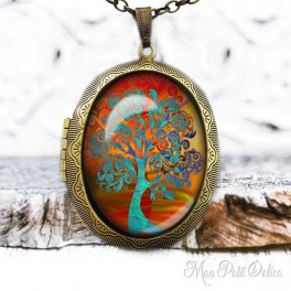 Camafeo-portafoto-relicario-vintage-arbol-vida-cabuchon-cristal-photo-locket-tree-life-fantasy-orange-cabochon-glass-bronze