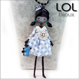 collar-muñeca-esmalte-pepettes-katie-azul-articulado-lol-bijoux-lolilota-enamel-doll-necklace-pepettes-blue-collier-sautoir