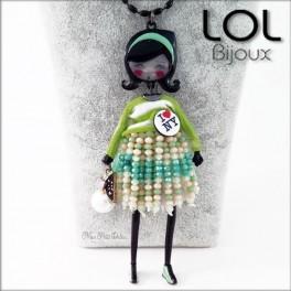 collar-muñeca-esmalte-pepettes-nayla-verde-articulado-lol-bijoux-lolilota-enamel-doll-necklace-pepettes-green-collier-sautoir