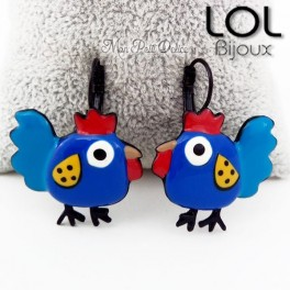 lol-bijoux-azul-gallina-pollito-pendientes-esmalte-enamel-bird-chicken-blue-earrings-emaux-lolilota-polue- boucles-d'oreilles