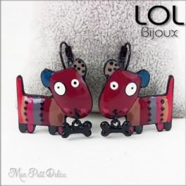 lol-bijoux-dogart-perro-rojo-pendientes-esmalte-enamel-red-dog-earrings-emaux-lolilota-chien-boucle-d´oreilles