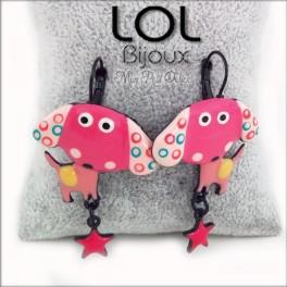 lol-bijoux-mirza-perro-rosa-pendientes-esmalte-enamel-pink-dog-earrings-emaux-lolilota-chien-boucle-d´oreilles