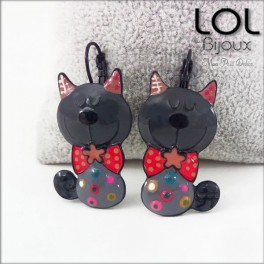 lol-bijoux-tom-gato-gris-pendientes-esmalte-enamel-grey-cat-earrings-emaux-lolilota-chat-boucle-d´oreilles