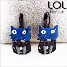 lol-bijoux-maru-gato-azul-pendientes-esmalte-enamel-blue-cat-chat-earrings-emaux-lolilota-boucle-d´oreilles