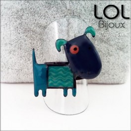 lol-bijoux-albert-dog-azul-anillo-esmalte-enamel-dog-blue-ring-emaux-lolilota-chien-bague