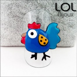 lol-bijoux-chicken-azul-gallina-pollito-anillo-esmalte-enamel-bird-chicken-blue-ring-emaux-lolilota-poule-bague