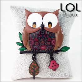 Broche-chouette-marron-buo-buho-esmalte-lol-bijoux-enamel-owl-brown-brooch-lolilota-hibou-emaux