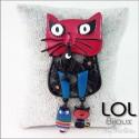 Maru Red Cat Brooch LOL Bijoux , Enamel broche lolilota