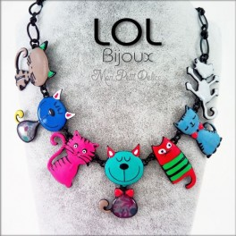 Familia Gato Tom Azul LOL Bijoux, gato de esmalte lolilota