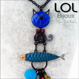 Collar-tom-sardina-azul-pez-esmalte-lol-bijoux-enamel-necklace-blue-fish-sardine-cat-lolilota-collier-chat