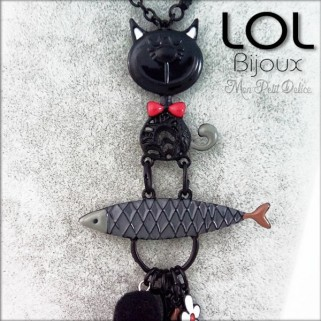 Collar-tom-sardina-negro-pez-esmalte-lol-bijoux-enamel-necklace-black-fish-sardine-cat-lolilota-collier-chat