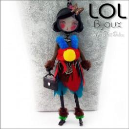 Les Pépettes - Collar largo muñeca de esmalte Sara , lol bijoux lolilota