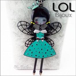 Les Pépettes - Collar largo muñeca de esmalte Lise , lol bijoux lolilota