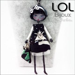 collar-muñeca-esmalte-pepettes-lucie-negro-articulado-lol-bijoux-lolilota-enamel-doll-necklace-black-collier-sautoir