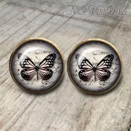 Pendientes Vintage Mariposa Negra