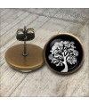 pendientes-vintage-arbol-vida-blanco-negro-cabuchon-cristal-12mm-bronce-earrings-black-white-stud-tree-life-cabochon-glass-tile