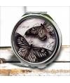 Espejo Doble de Bolsillo Mariposa Negra, espejo con tapa