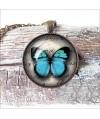 collar-colgante-redondo-mariposa-azul-vintage-cabuchon-cristal-necklace-pendant-buterrfly-blue-bronze-cabochon-glass