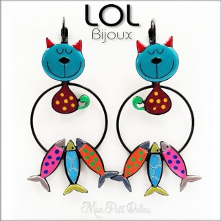 lol-bijoux-tom-sardine-gato-azul-pendientes-esmalte-articulado-enamel-blue-cat-earrings-chat-emaux-boucles-d'oreilles-lolilota