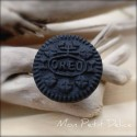 Oreo Cookie Ring miniature polymer clay food