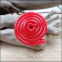 Red Licorice miniature polymer clay ring food