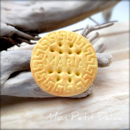 Maria Cookie Ring, polymer clay miniature food