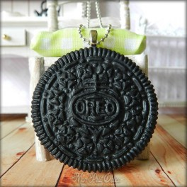 Oreo Cookie Necklace, Pendant
