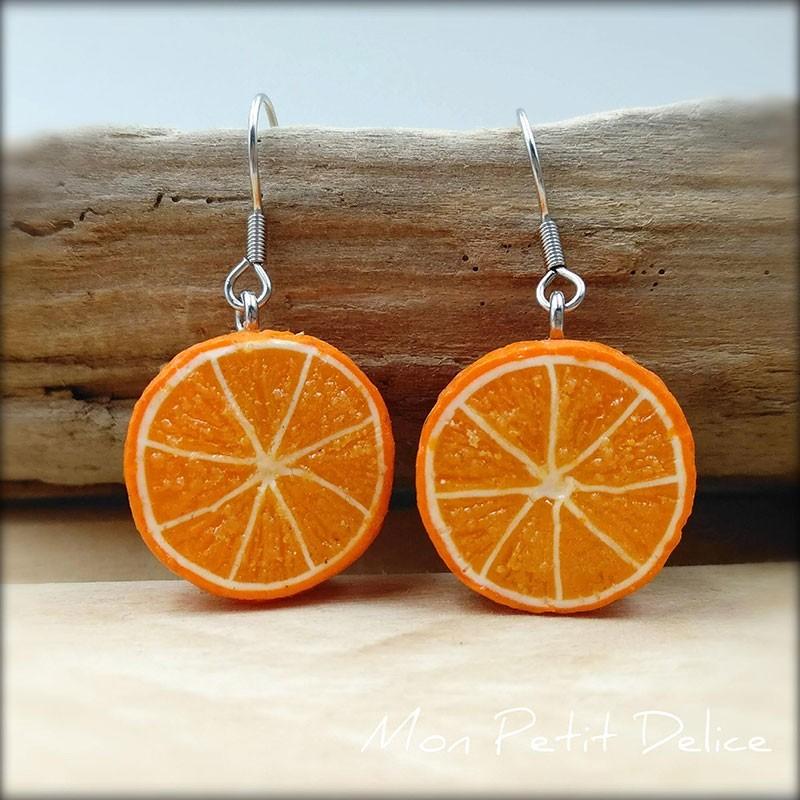 Orange Clay Earrings