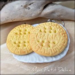 Pendientes Largos Cookies Galletas Maria