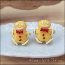 Pendientes Cookies Galletas de Jengibre, comida miniatura