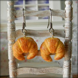 Croissant Dangle Earrings